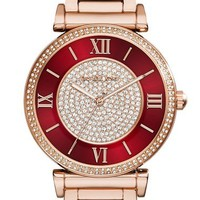Michael Kors 'Caitlin' Crystal Dial Bracelet Watch, 38mm