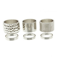 MINIMALIST RING SET DELUXE (CHOOSE MATERIAL COLOR)