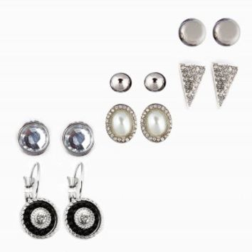 MIXED SHAPE EARRING SET