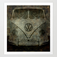 VW Zombiemobile - A killer Zombie bus Art Print by BruceStanfieldArtist.DarkSide