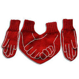 Funny Dual Valentine Gloves for HIM and HER with Decorations