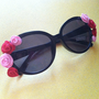 Floral Sunglasses (Pink/Red)