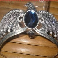 Harry Potter Ravenclaw&#x27;s diadem crown headdress with blue crystal and Words carving
