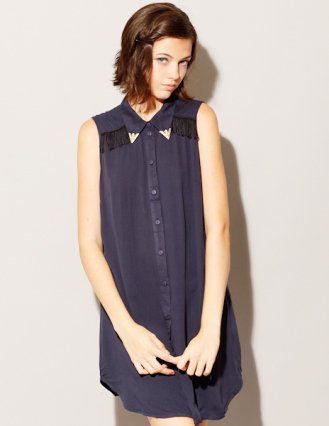 Navy western dress [Mui1944] - $64 : Pixie Market, Fashion-Super-Market