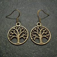 Bronze Tree of Life Earrings