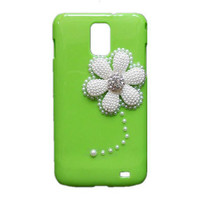 Handmade hard case for Samsung Galaxy S2 Skyrocket: Bling pearl sunflowers (customized are welcome)