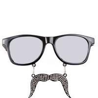 Bling Bling Stache Sunglasses