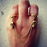 skull double ring