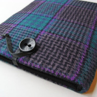 ipad Case / ipad 1 2 3 Cover / Wool & Cashmere Sleeve / Purple Blue