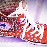 Spiked High Top Converse Sneaker
