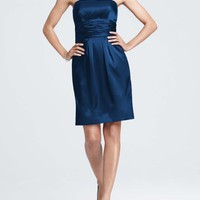 Buy Short Charmeuse Dress with Ruched Waist and Pocket Style 83707  for $89.98 only in Fashionwithme.com.