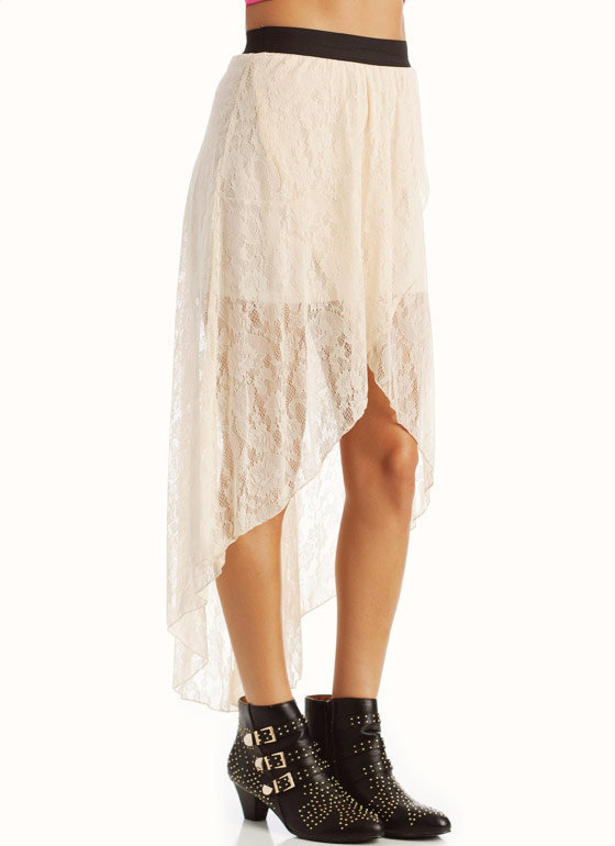 high low lace skirt black from gojane skirt