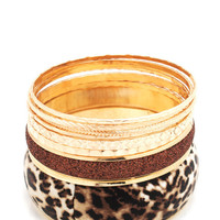 leopard-print-bangle-set GOLDIVORY - GoJane.com