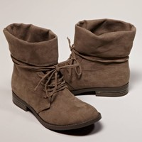MIA Foldover Suede Bootie | American Eagle Outfitters