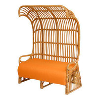 Hooded Rattan Settee | Pieces
