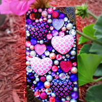 Sparkly Pink & Purple Custom iPhone 4/4S Case- Luxurious Louis