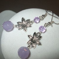 NEW Summer Blossoms - Lavender Flower Dangle Earrings