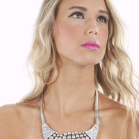 Bubble Antique Silver Necklace | Shop trendy accessories at MessesOfDresses.com