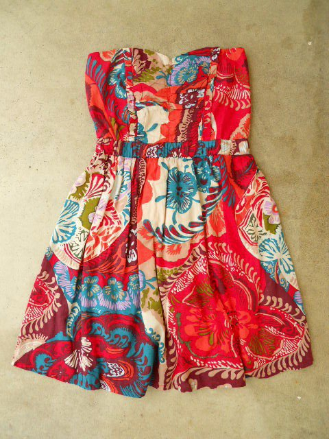 Red Bonnes Vacances Dress [2442] - $27.00 : Vintage Inspired Clothing & Affordable Summer Dresses, deloom | Modern. Vintage. Crafted.