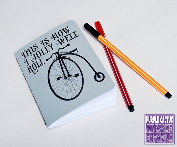 Bicycle notebook Penny Farthing journal