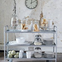 Metal Trolley - Rose & Grey, Vintage Leather Sofas and Stylish Accessories