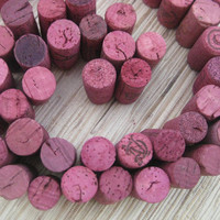 Pink Wine Corks - eco CRAFT supply, upcycle, crafting, DIY, fuchsia wine corks