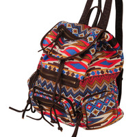 Tribal Print Backpack