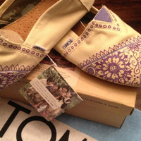 Custom Hand Painted Purple Mehndi Toms - Made to Order