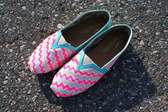 Custom painted Chevron Toms
