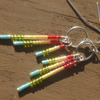 The Jocelyn Beaded Earrings in Colors of the Rainbow