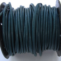 Round Leather Cord 2mm Iris Blue - 2 Yards  B691