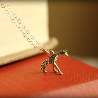 Itty Bitty Giraffe Necklace in Sterling Silver