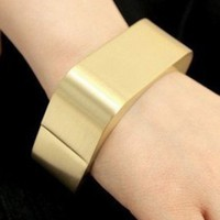Punk Gold High Polished Rectangular Bangle