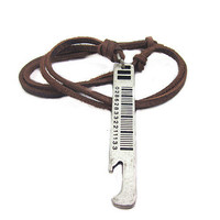soft leather necklace,metal pendant men leather long necklace, women leather necklace  PL0209