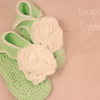 Crochet Baby Sandals/9-12 Months/ph.. on Luulla