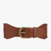Leatherette Buckle Waist Belt