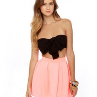 Cute Black Top - Bandeau Top - Strapless Top - $21.50
