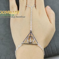 Harry Potter Deathly Hallows Ring And Bracelet MB619