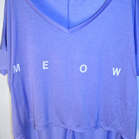 Lavender &#x27;Meow&#x27; T-Shirt