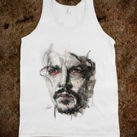 Johnny Depp Watercolor Tank - Sweet Prints