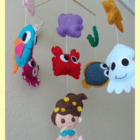 Hanging Mobile  Under the sea theme choose your color by hingmade