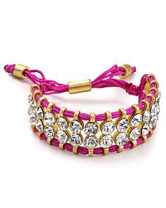 Aqua Two Row Neon Crystal Wrap Bracelet | Bloomingdale's