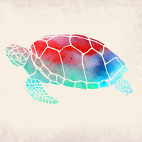Watercolor Turtle Art Print by Jacqueline Maldonado | Society6