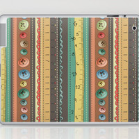 Sewing stripes Laptop & iPad Skin by Carina Povarchik | Society6