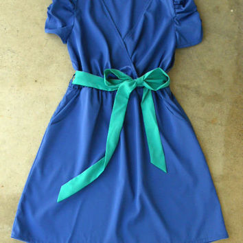 Periwinkle Summer Dress [2668] - $36.00 : Vintage Inspired Clothing & Affordable Summer Dresses, deloom | Modern. Vintage. Crafted.