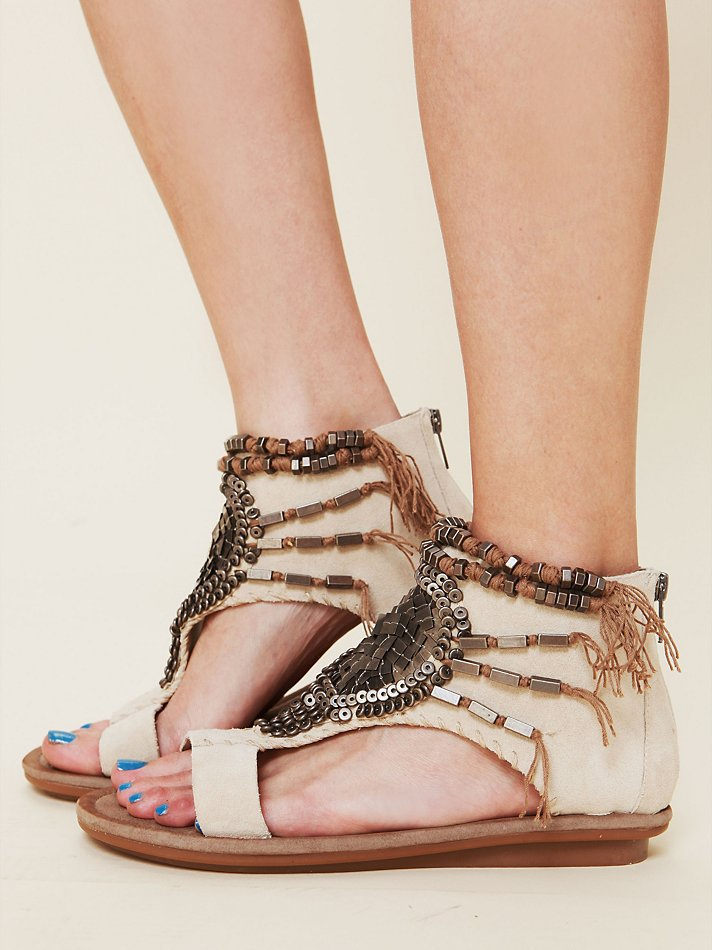Free People Desert Beaded Sandal
