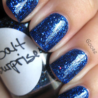 Cobalt Surprise : Custom-Blended Nail Polish