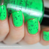 Radioactive - Glow In The Dark Neon Green Nail Polish- 0.5 oz Full Sized Bottle