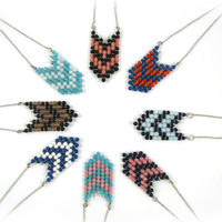 Chevron Necklace in Bright Colors Tribal Jewelry