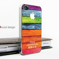 light silvery iphone 4 case iphone 4s case iphone 4 cover Iphone colorized wood texture image unique iphone case design printing